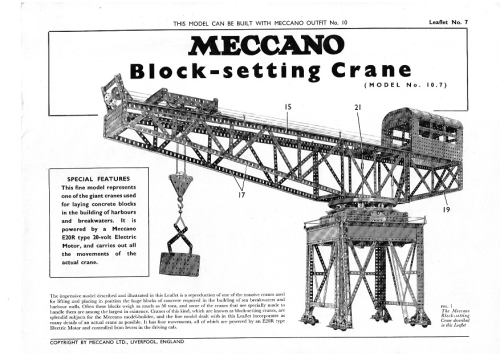l07 10 7 block setting crane