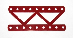 100a Single Braced Girder 9 Hole Red Used