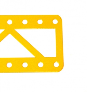99a Single Braced Girder 19 Hole Closed Ends UK Yellow