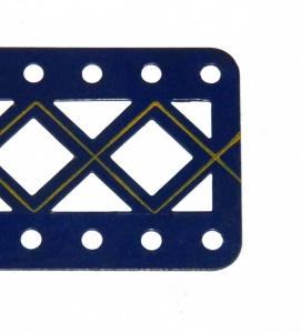 100DC Double Braced Girder 11 Hole Blue and Gold Original