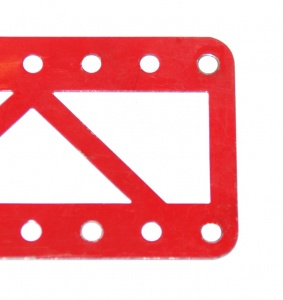 100 Single Braced Girder 11 Hole Light Red Closed Ends Ogl.