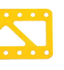 99b Single Braced Girder 15 Hole UK Yellow Closed Ends Ogl.
