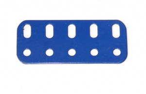 103f Flat Girder 5 Hole Blue Original