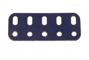 103f Flat Girder 5 Hole Dark Blue Original