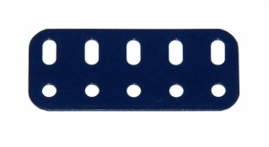 103f Flat Girder 5 Hole Dark Blue Used