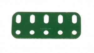 103f Flat Girder 5 Hole Dark Green Original