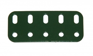 103f Flat Girder 5 Hole Metallus Green