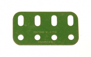 103g Flat Girder 4 Hole Mid Green Repainted