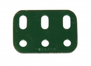 103h Flat Girder 3 Hole Dark Green Original