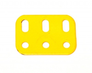 103h Flat Girder 3 Hole French Yellow Original