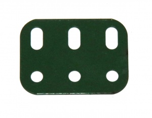 103h Flat Girder 3 Hole Metallus Green