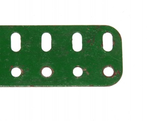 103f Flat Girder 5 Hole Green Seconds