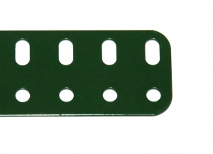103a Flat Girder 19 Hole Metallus Green