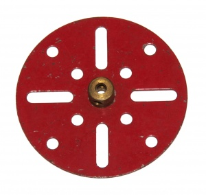 109 Face Plate 2½'' 1930s Red Original