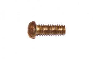 111c Slotted Dome Head Bolt 3/8'' (10mm) Brass Original