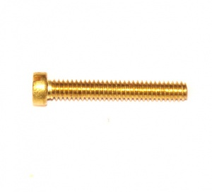 111e Slotted Cheesehead Bolt 1'' (25mm) Brass