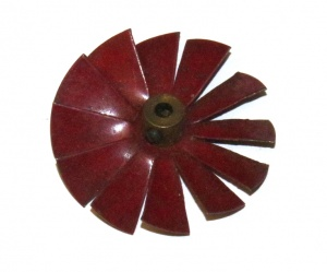 157 Fan 2'' Dark Red Original
