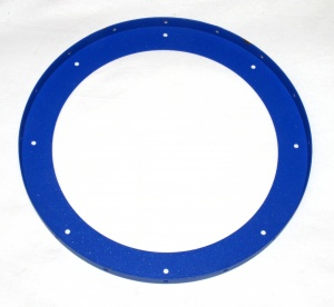 167b Large Flanged Ring Blue Used