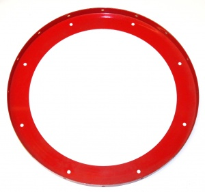 167b Large Flanged Ring Light Red Original