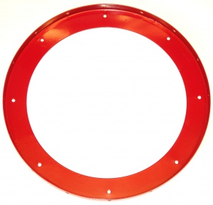 167b Large Flanged Ring Red