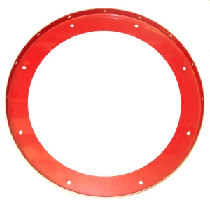 167b Large Flanged Ring Mid Red Original