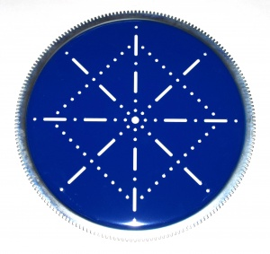 167x Geared Roller Bearing Plate Blue