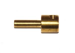 173b Screwed Rod Adaptor Cross Tapped Brass