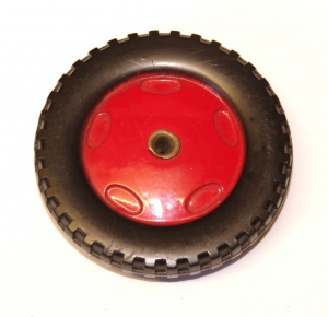 187 Plastic Road Wheel 2½'' Black/Red Original