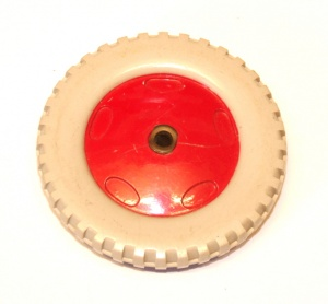 187 Plastic Road Wheel 2½'' Grey/Red Original