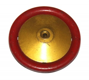 187 Road Wheel 2½'' Metal Red / Gold Original