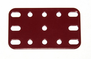188 Flexible Plate 5x3 Dark Red Original