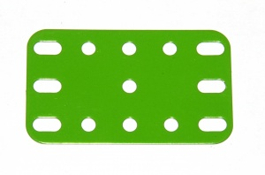 188 Flexible Plate 5x3 Florescent Green Original