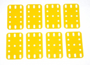 188 Flexible Plate 5x3 French Yellow Original x8