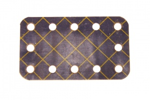 188 Flexible Plate 5x3 Blue and Gold Original