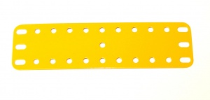 189 Flexible Plate 11x3 UK Yellow