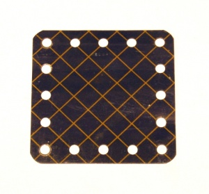 190 Flexible Plate 5x5 Blue and Gold Original