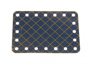 190a Flexible Plate 5x7 Blue and Gold Original