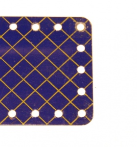191 Flexible Plate 5x9 Blue and Gold Original