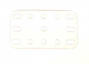 193 Transparent Plate 5x3 Hole
