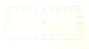 193e Transparent Plate 11x5 Hole