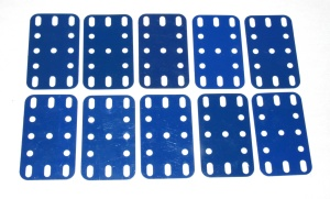 194 Flexible Plastic Plate 5x3 Blue Original x10