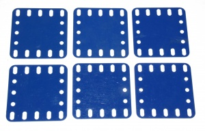 194a Flexible Plastic Plate 5x5 Blue Original x6