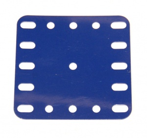 194a Flexible Plastic Plate 5x5 Blue Original