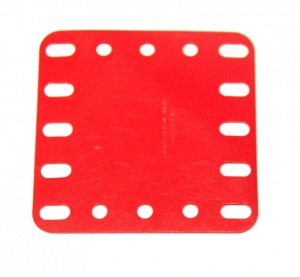 194a Flexible Plastic Plate 5x5 Red Original