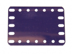 194b Flexible Plastic Plate 7x5 Blue