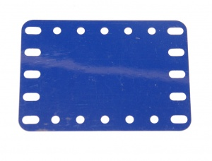 194b Flexible Plastic Plate 7x5 Blue Original