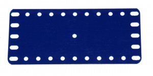 194e Flexible Plastic Plate 11x5 Blue