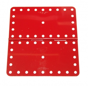 198 Hinged Flat Plate Light Red Original