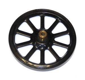 19a Spoked Wheel 3'' Black Original