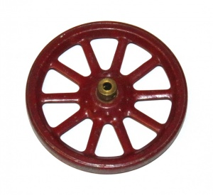 19a Spoked Wheel 3'' Dark Red Original